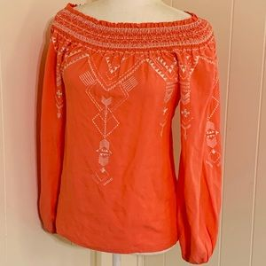 Etcetera Pink Embroidered Long Sleeve Tunic